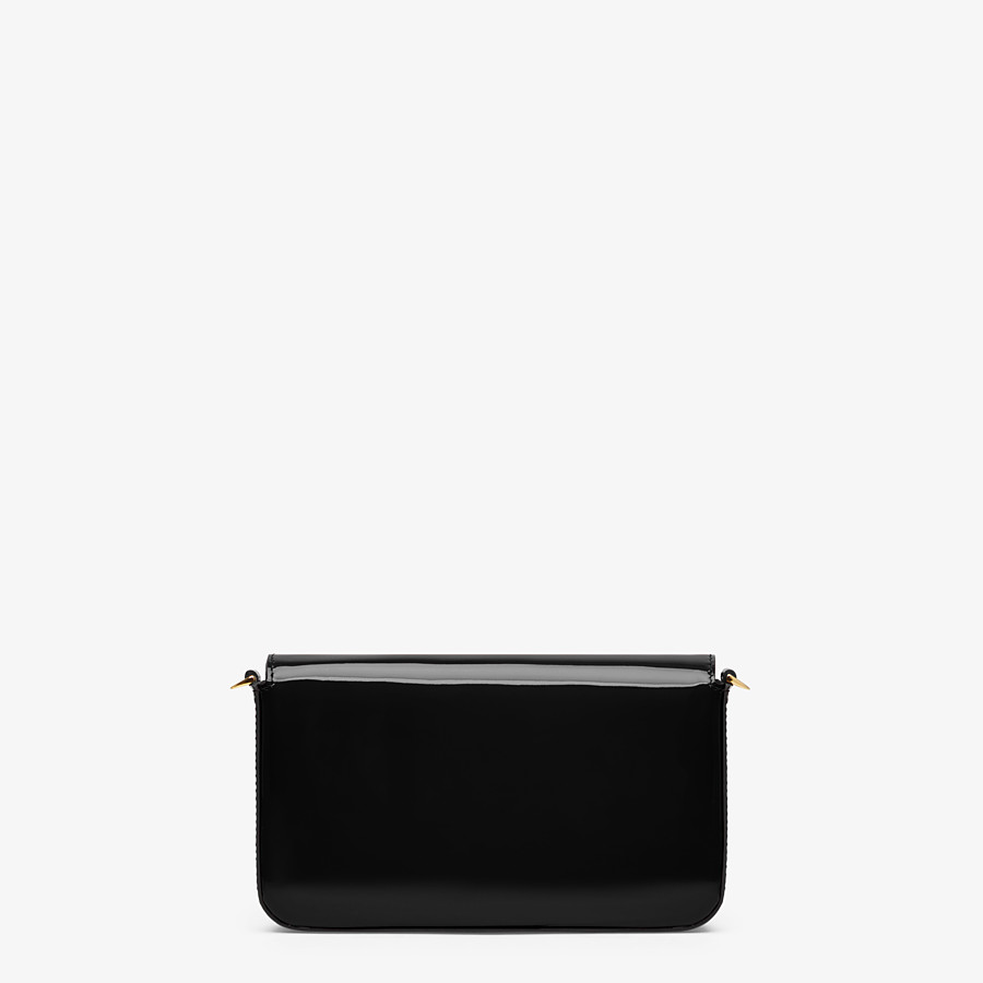 FENDI WALLET ON CHAIN WITH POUCHES - Mini bag in black patent - view 4 detail