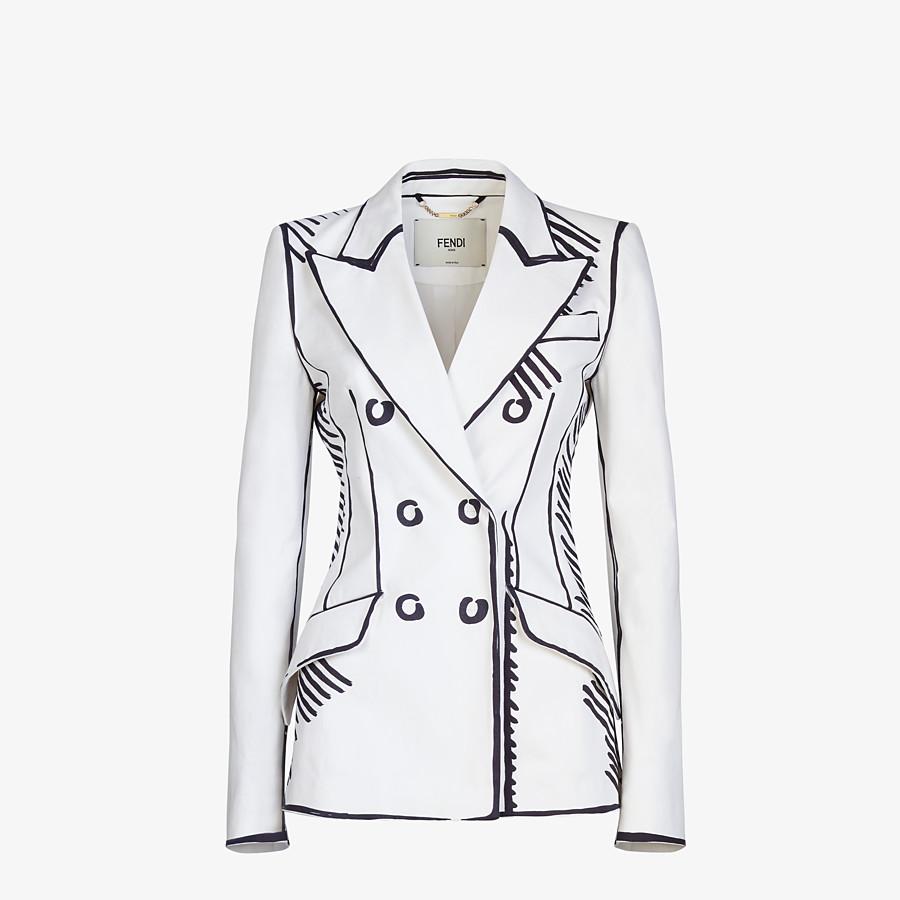 FENDI JACKET - Fendi Roma Joshua Vides gabardine jacket - view 1 detail