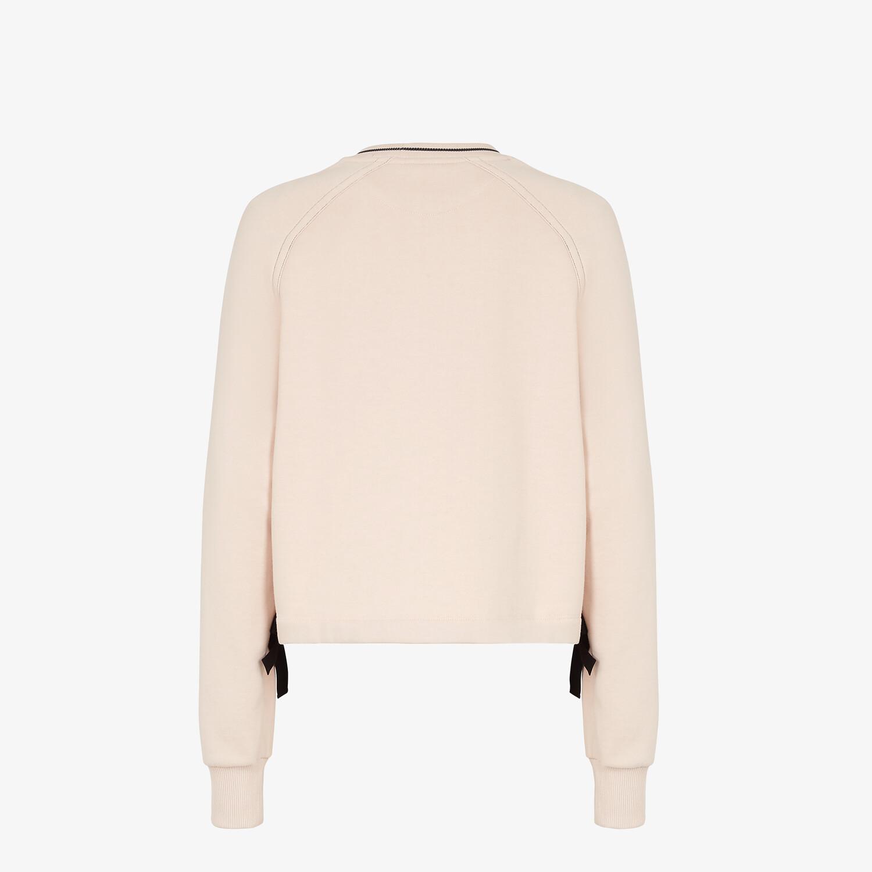 FENDI SWEATSHIRT - Pink jersey sweatshirt - view 2 detail