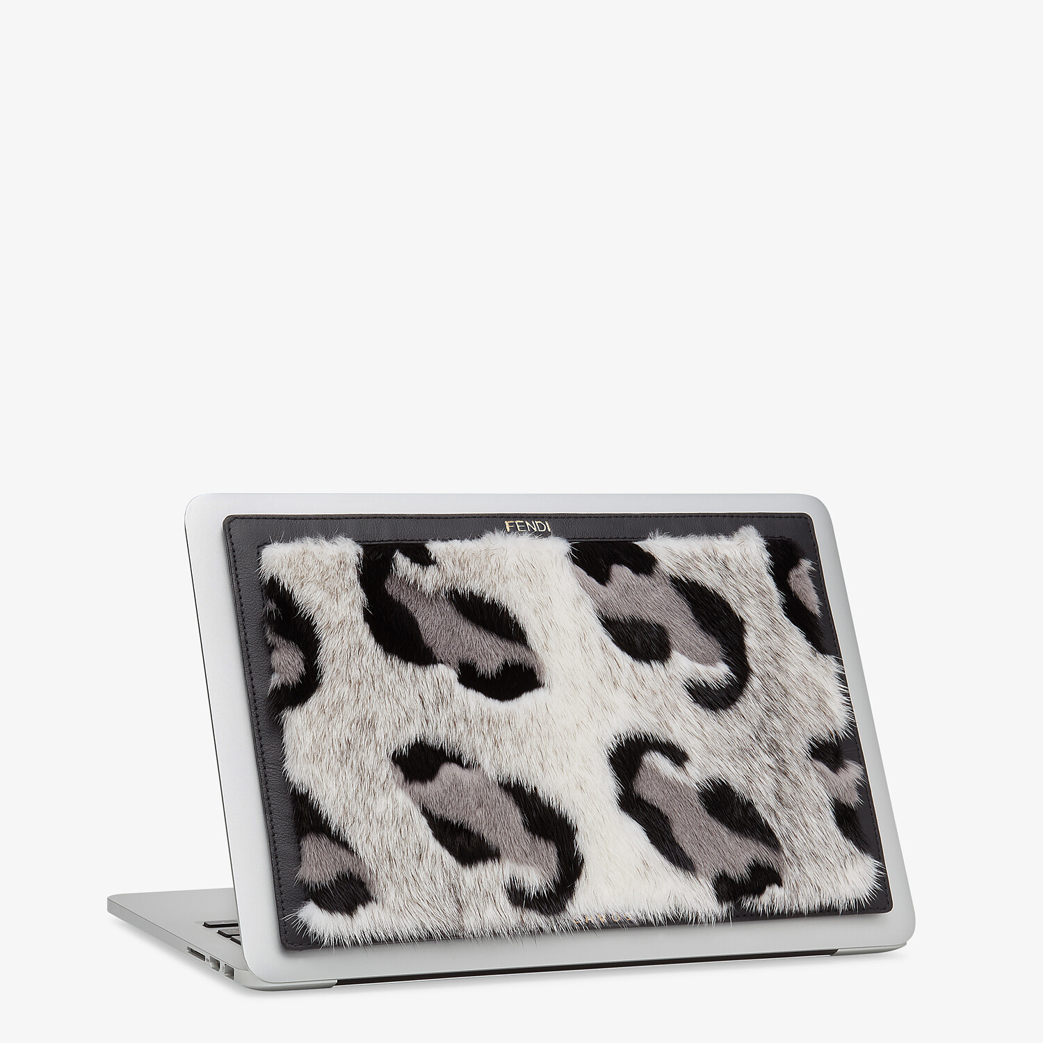 FENDI LAPTOP SLEEVE - Fendi X Chaos leather laptop cover - view 1 detail