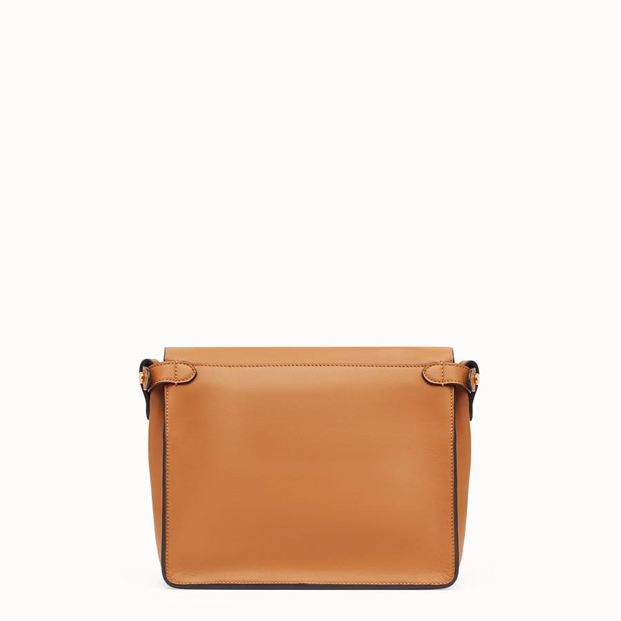 FENDI FENDI FLIP MEDIUM - Brown leather bag - view 5 detail