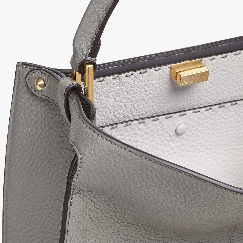 FENDI PEEKABOO X-LITE MEDIUM - Gray Cuoio Romano leather bag - view 6 detail