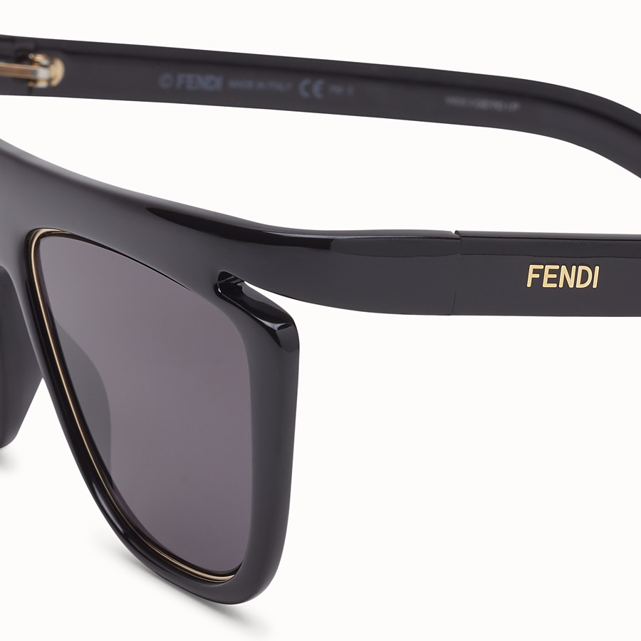 FENDI FFLUO - Black sunglasses - view 3 detail