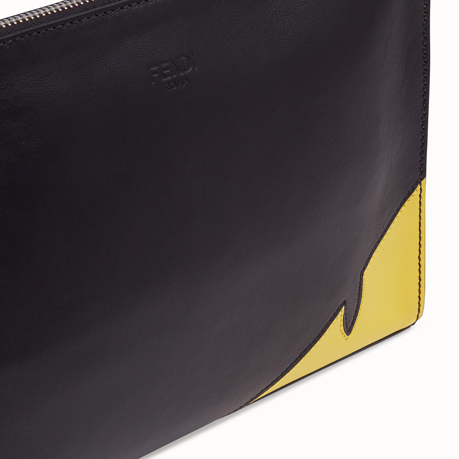 FENDI CLUTCH - Black calf leather pochette - view 5 detail