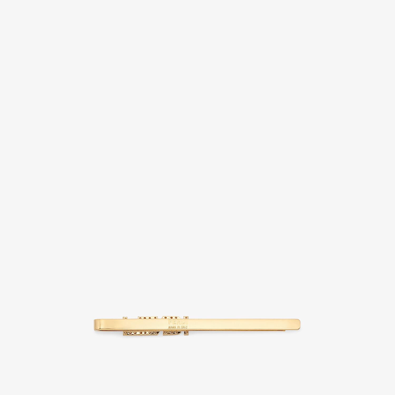 FENDI SIGNATURE HAIR CLIP - Gold-colored hair clip - view 2 detail