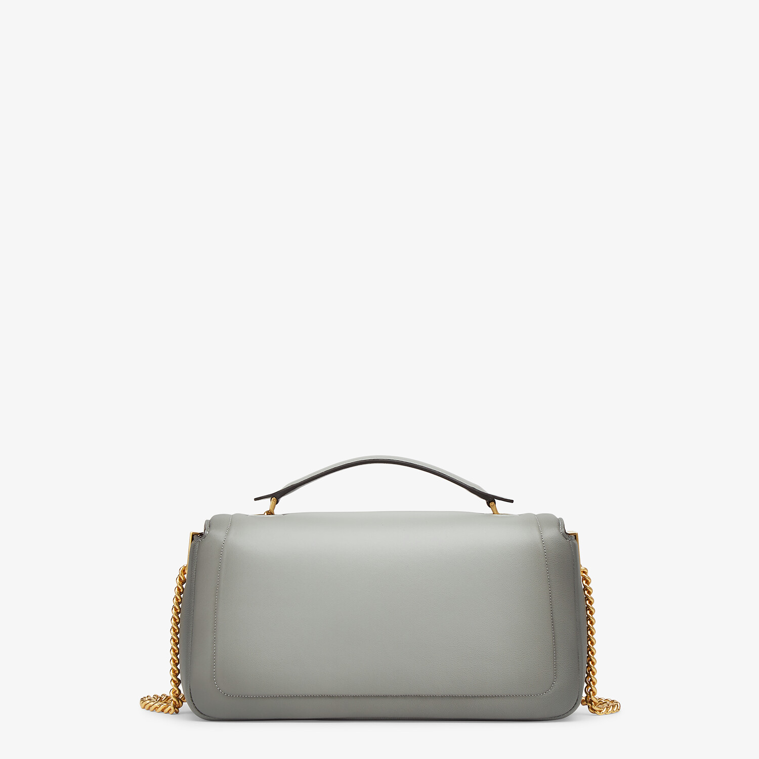 FENDI BAGUETTE CHAIN - gray nappa leather bag - view 3 detail