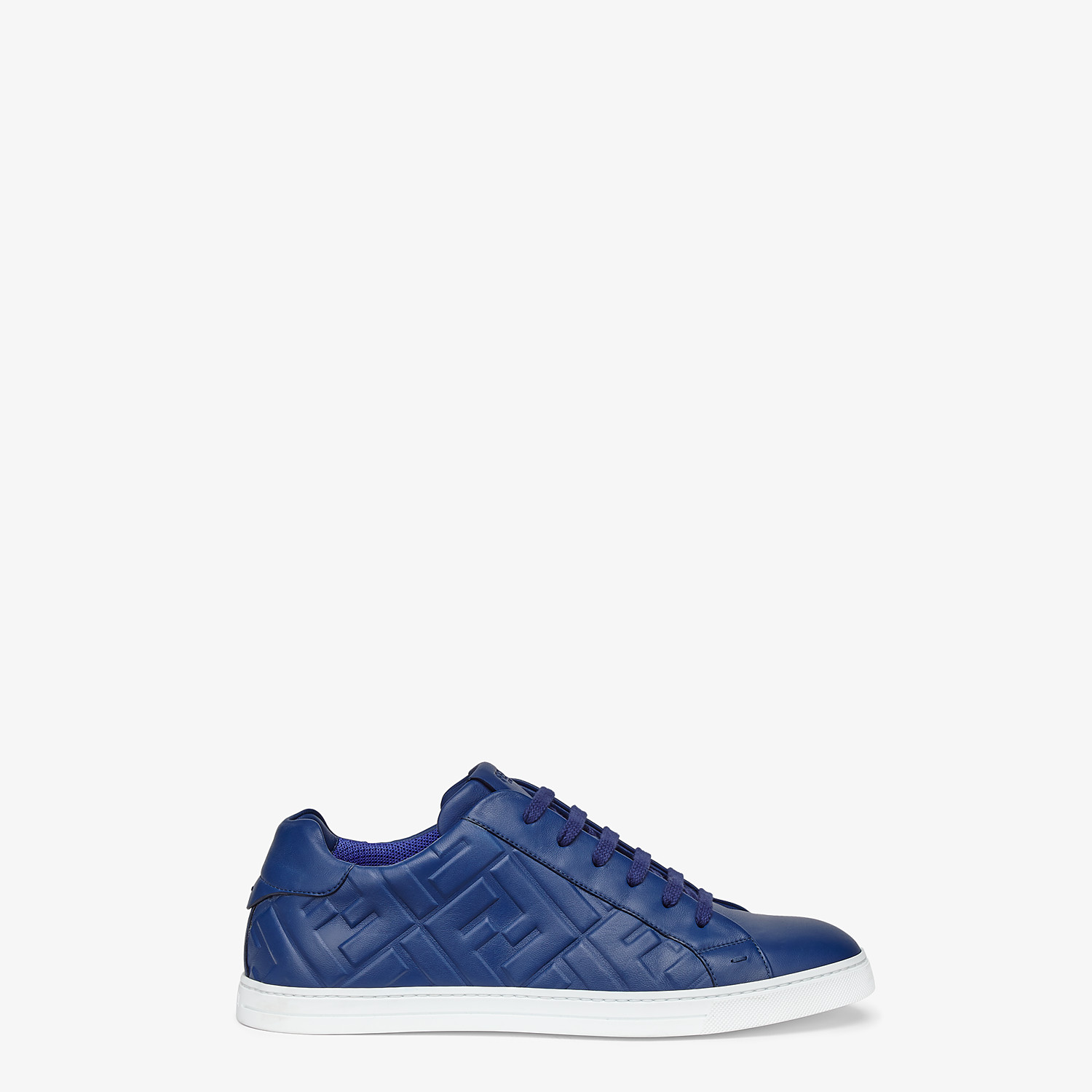 FENDI SNEAKERS - Blue nappa leather low-tops - view 1 detail