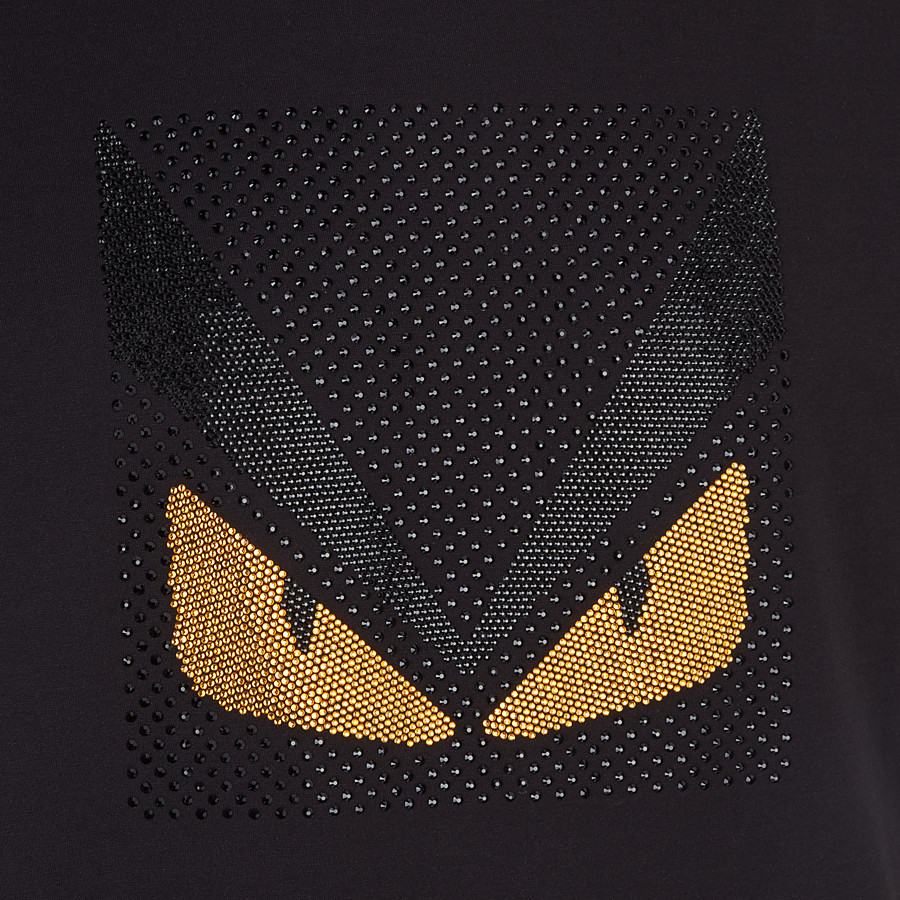 FENDI T-SHIRT - Bag Bugs T-shirt in black cotton - view 3 detail