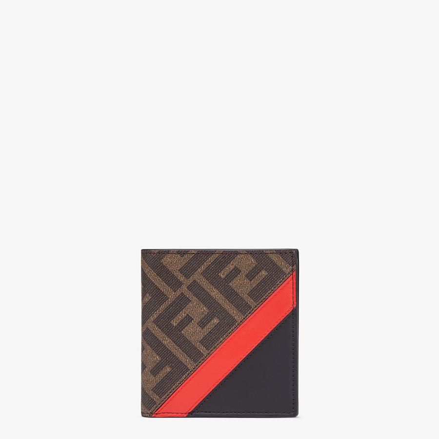 FENDI PORTAFOGLIO - Bi-fold in tessuto marrone - vista 1 dettaglio