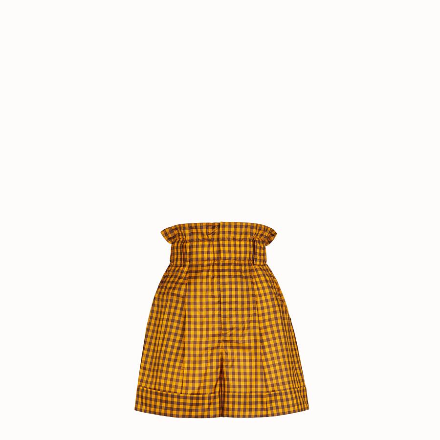 FENDI SHORT - Pantalone in seta Vichy - vista 1 dettaglio