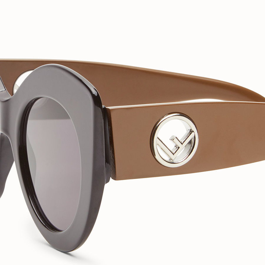 FENDI F IS FENDI - Black and brown sunglasses - view 3 detail