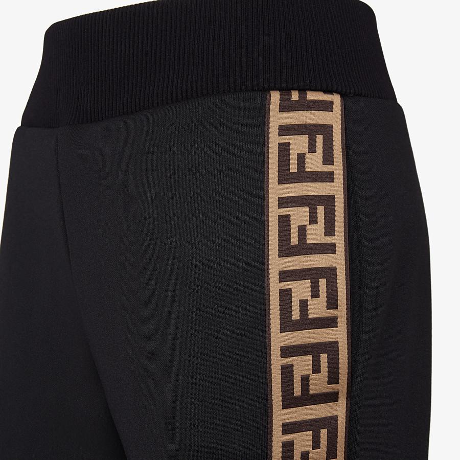 FENDI PANTS - Black jersey jogging pants - view 3 detail