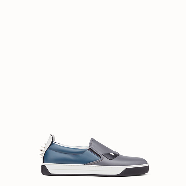 FENDI SNEAKER - Two-tone leather slip-ons - view 1 small thumbnail