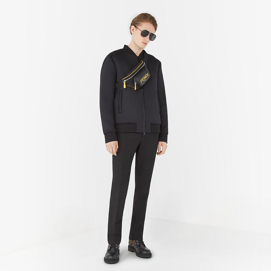 FENDI BLOUSON JACKET - Black tech fabric jacket - view 4 detail
