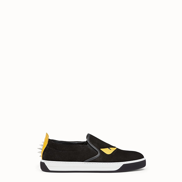 FENDI SNEAKER - Slip-on in schwarzem Leder - view 1 small thumbnail