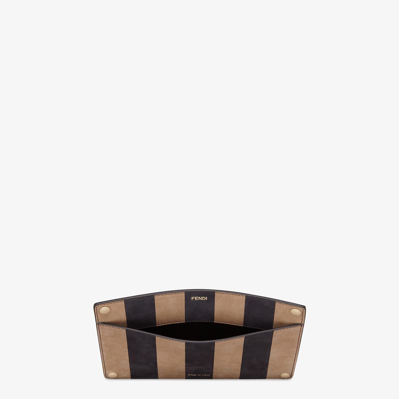 FENDI PEEKABOO ISEEU POCKET - Brown leather accessory pocket - view 3 detail