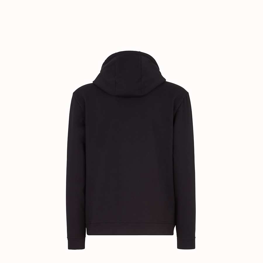 FENDI  - Black cotton and cashmere sweatshirt - view 2 detail