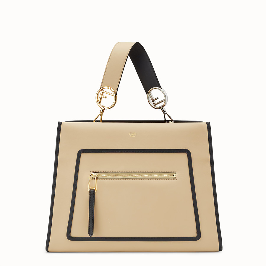 FENDI RUNAWAY REGULAR - Beige leather bag - view 1 detail