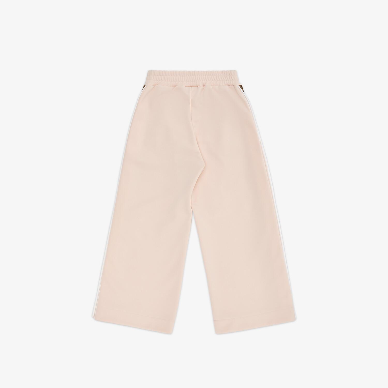 FENDI JUNIOR TROUSERS - Pink tech fabric junior trousers - view 2 detail