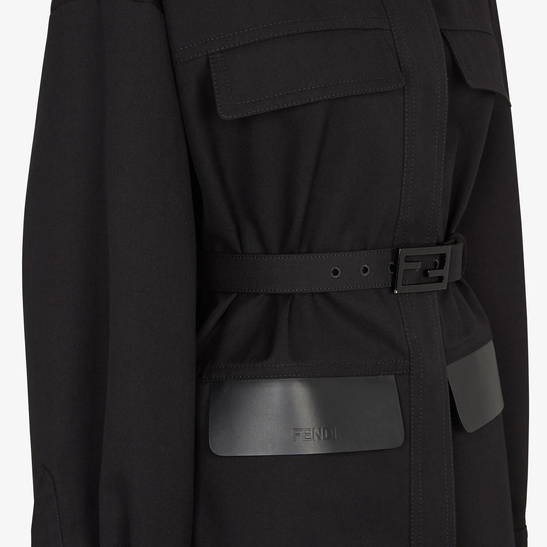 FENDI OVERCOAT - Black cotton jacket - view 3 detail