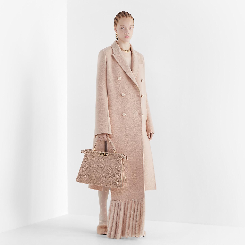 FENDI COAT - Pink camel-hair coat - view 1 detail