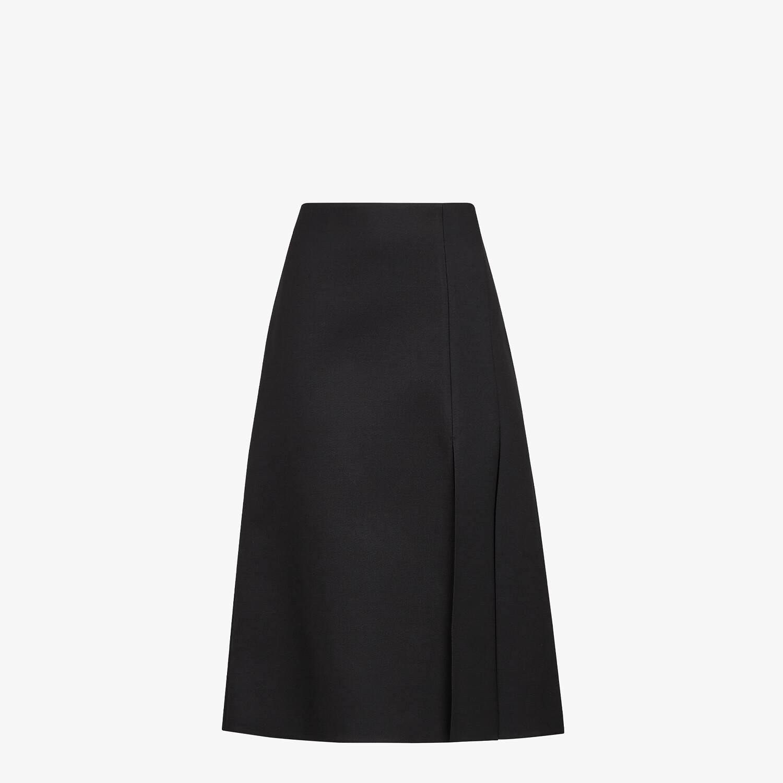 FENDI SKIRT - Black silk and wool skirt - view 1 detail