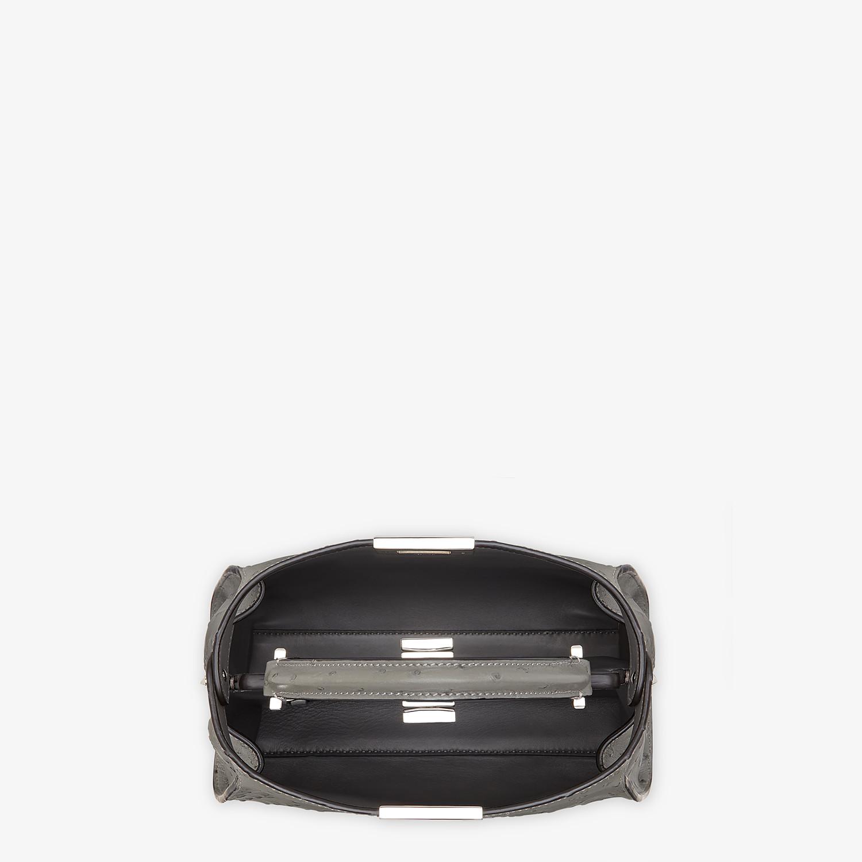 FENDI PEEKABOO ICONIC ESSENTIALLY - Grey ostrich leather bag - view 4 detail