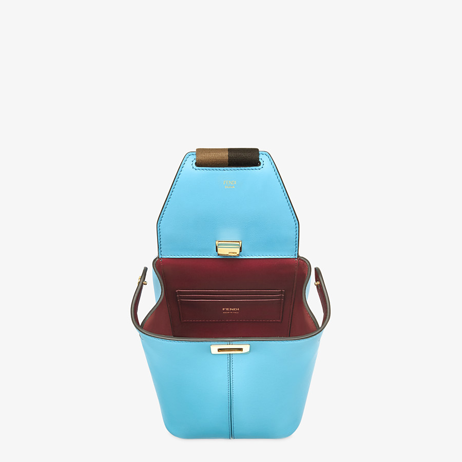 FENDI GUITAR BAG - Light blue leather mini-bag - view 5 detail