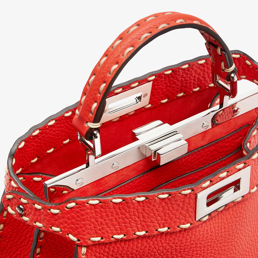FENDI PEEKABOO ISEEU SMALL - Red full grain leather bag - view 5 detail
