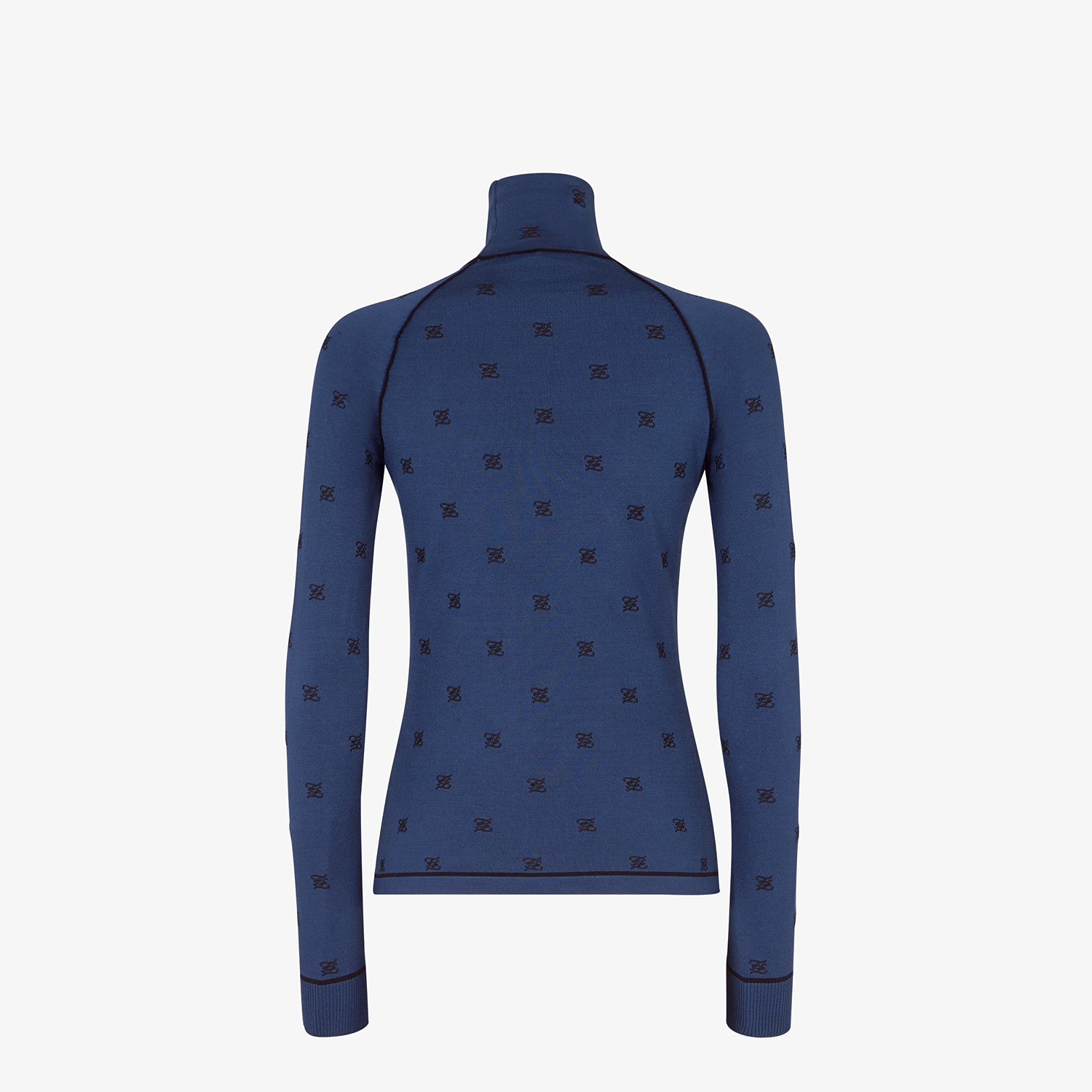 FENDI PULLOVER - Blue viscose jumper - view 2 detail