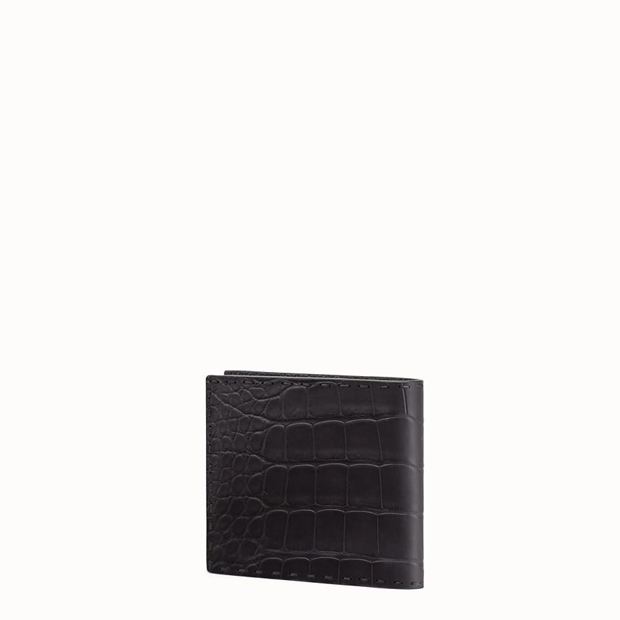 FENDI 皮夾 - 黑色鱷魚皮雙折皮夾 - view 2 detail