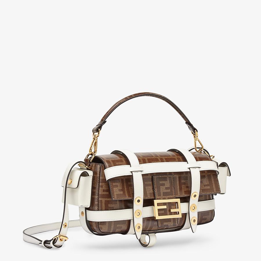 FENDI BAGUETTE CAGE - Tasche aus Stoff in Braun - view 3 detail