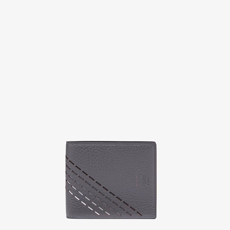 FENDI PORTEMONNAIE - Bifold-Portemonnaie aus Kalbsleder in Grau - view 1 detail