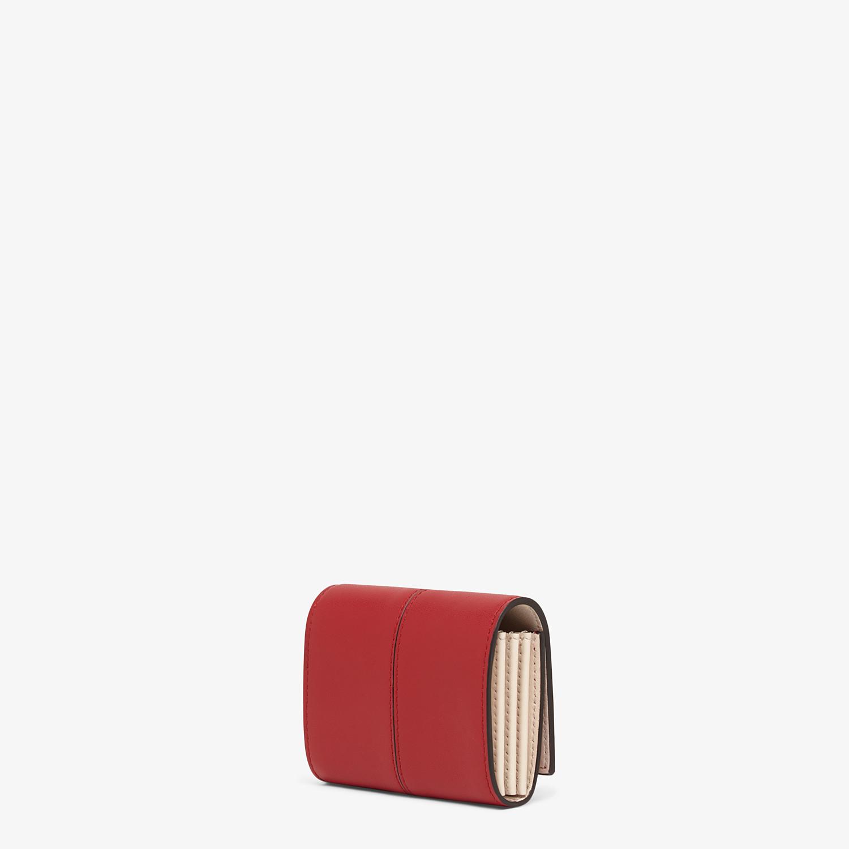 FENDI PORTACARTE - Portacarte in pelle rossa - vista 2 dettaglio