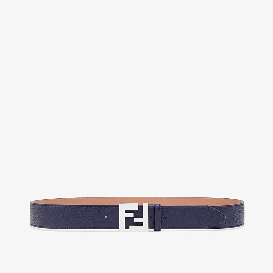 FENDI BELT - Blue Romano leather belt - view 1 detail