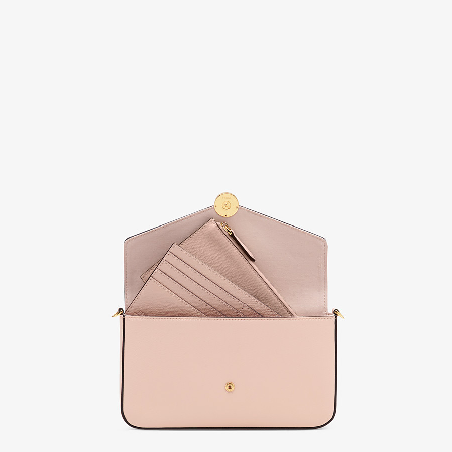 FENDI WALLET ON CHAIN WITH POUCHES - Pink leather minibag - view 7 detail