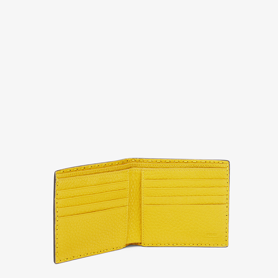 FENDI WALLET - Yellow alligator bi-fold wallet - view 3 detail
