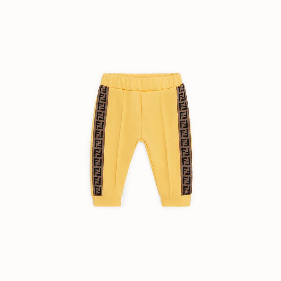 FENDI TROUSERS - Yellow tech mesh jogging trousers - view 1 detail