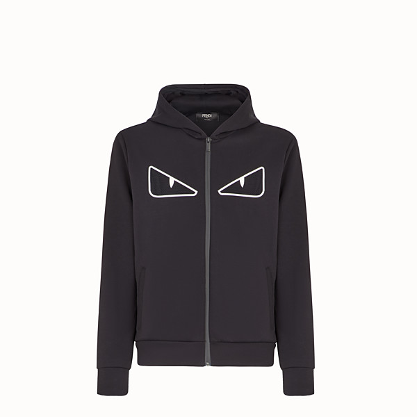 FENDI SWEAT-SHIRT - Sweat-shirt en coton noir - view 1 small thumbnail