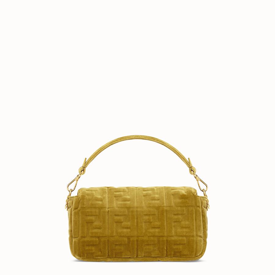 FENDI BAGUETTE - Yellow velvet bag - view 3 detail