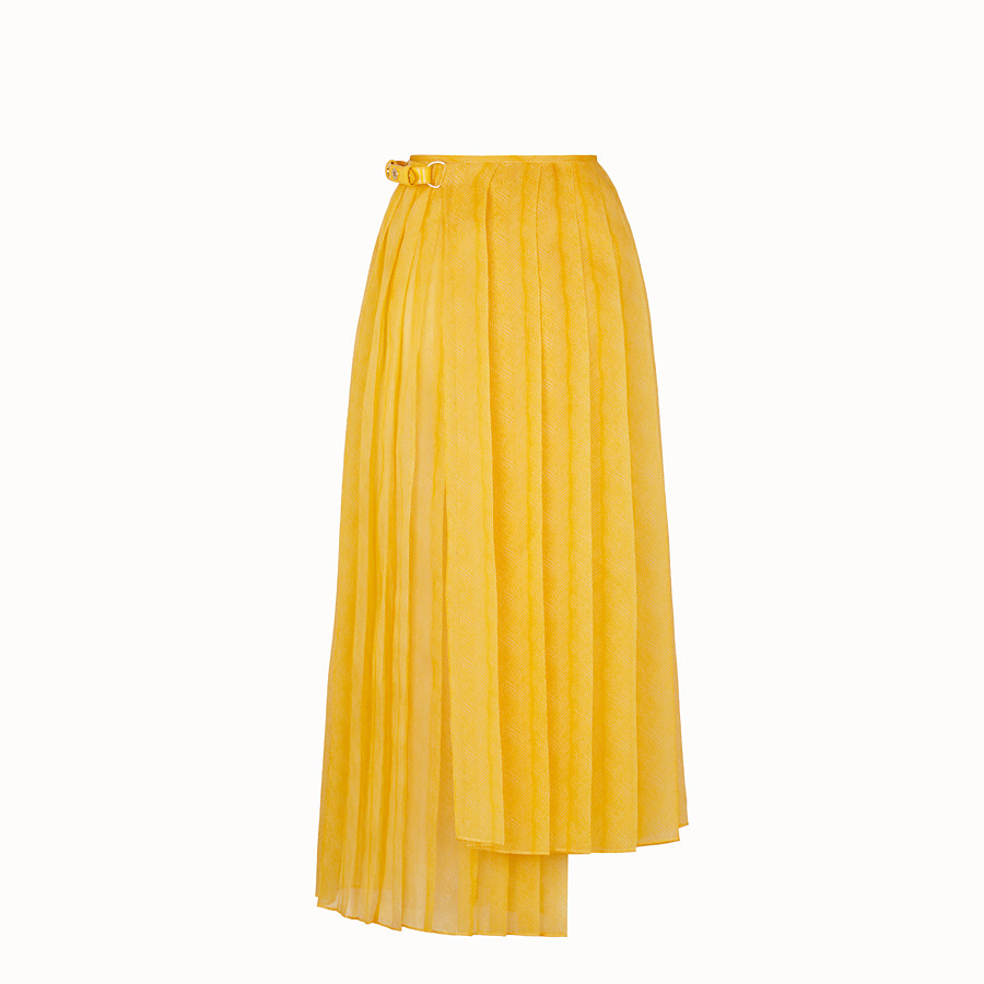 FENDI SKIRT - Yellow organza skirt - view 2 detail