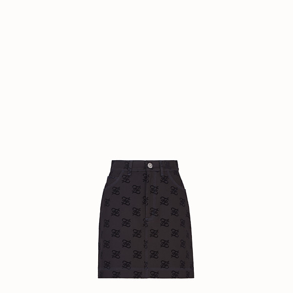 FENDI SKIRT - Black denim skirt - view 1 small thumbnail