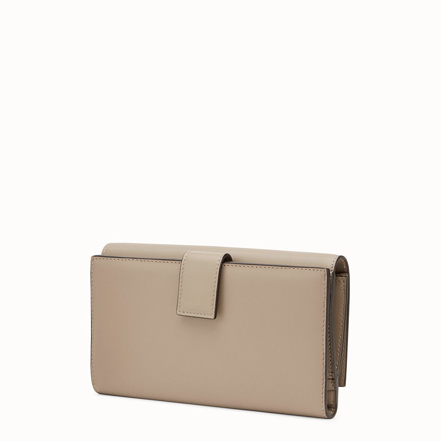 FENDI PEEKABOO WALLET - Continental wallet in dove-grey leather - view 2 detail