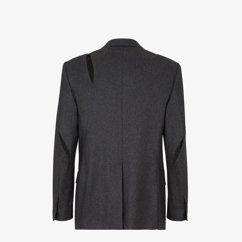 FENDI JACKET - Gray wool blazer - view 2 detail
