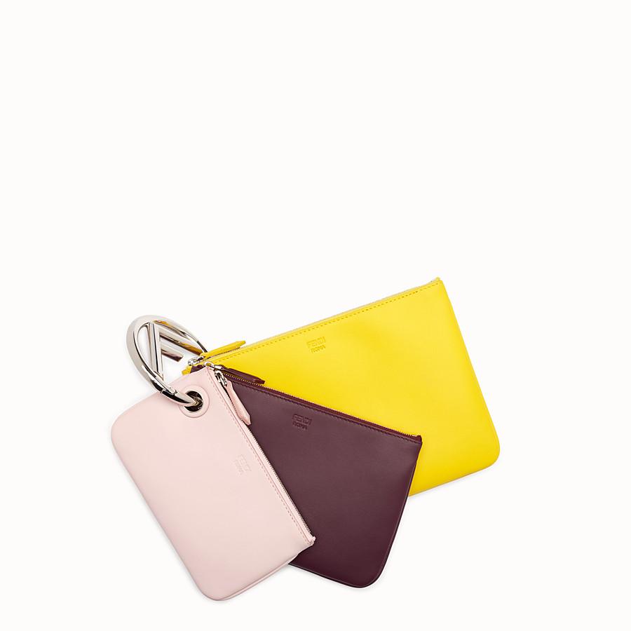 FENDI TRIPLETTE - Clutch aus mehrfarbigem Leder - view 1 detail