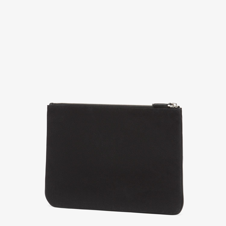 FENDI POUCH - Black canvas pouch - view 2 detail