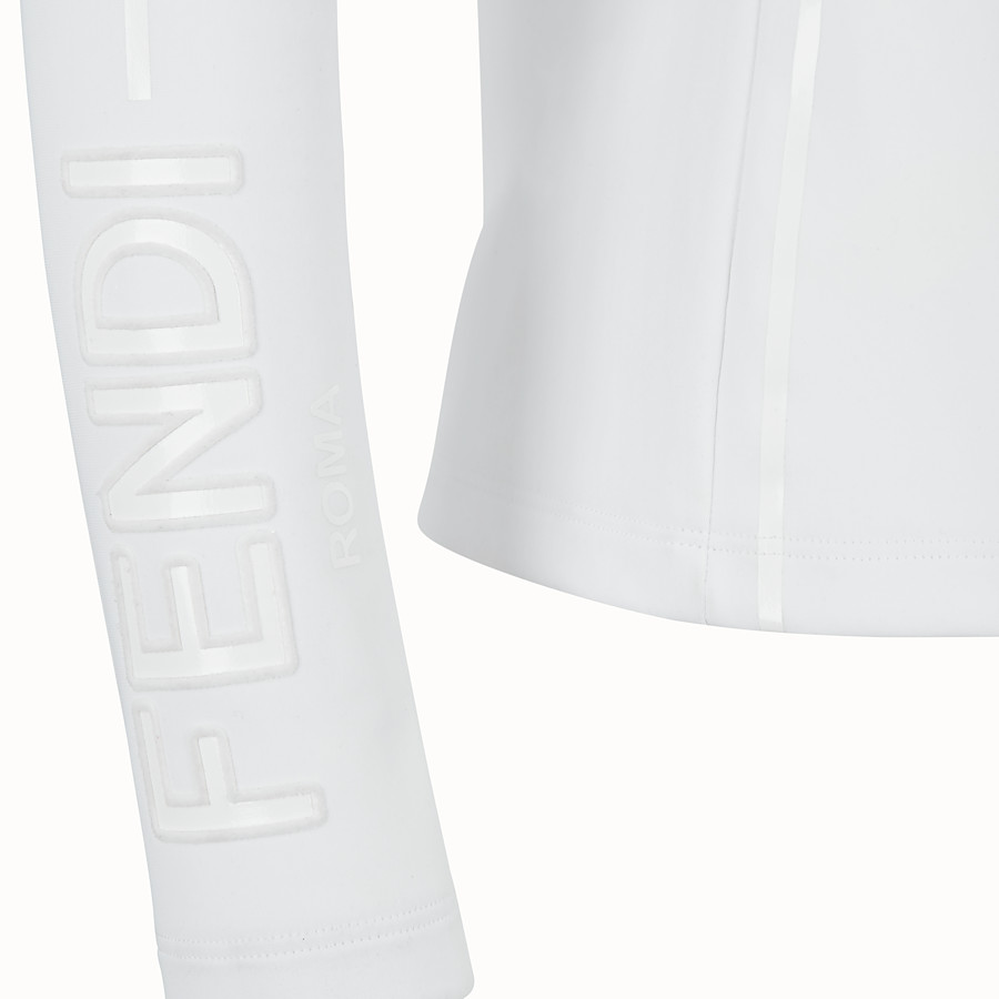 FENDI TECH FABRIC JUMPER - White tech fabric jumper - view 3 detail