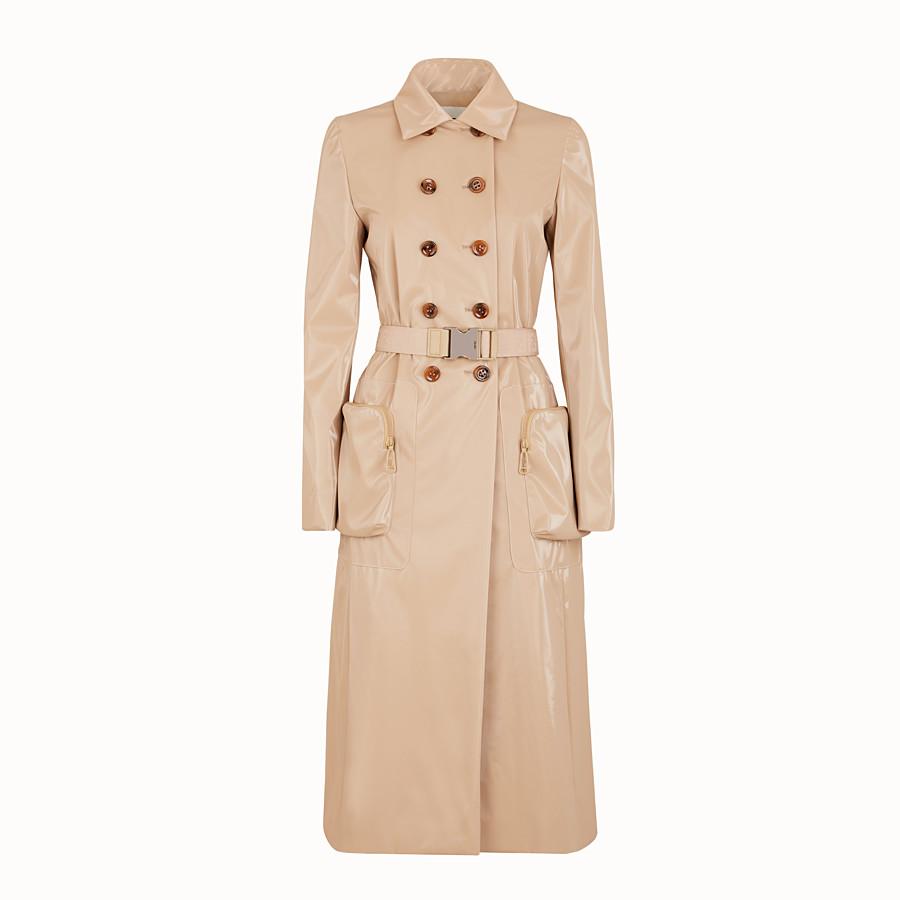 FENDI COAT - Beige trench coat in nylon - view 1 detail