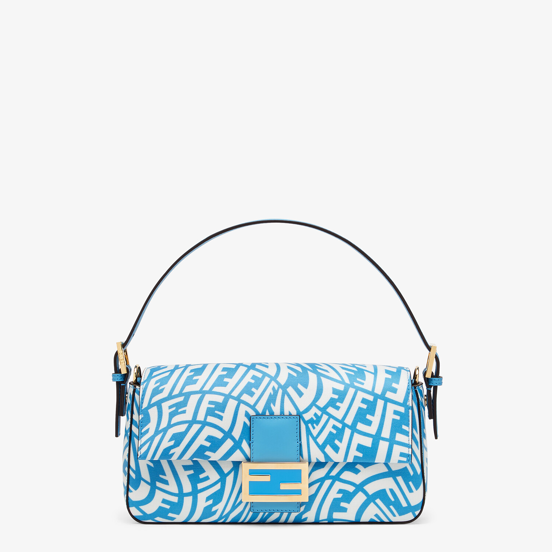 FENDI BAGUETTE 1997 - Blue glazed canvas bag - view 1 detail