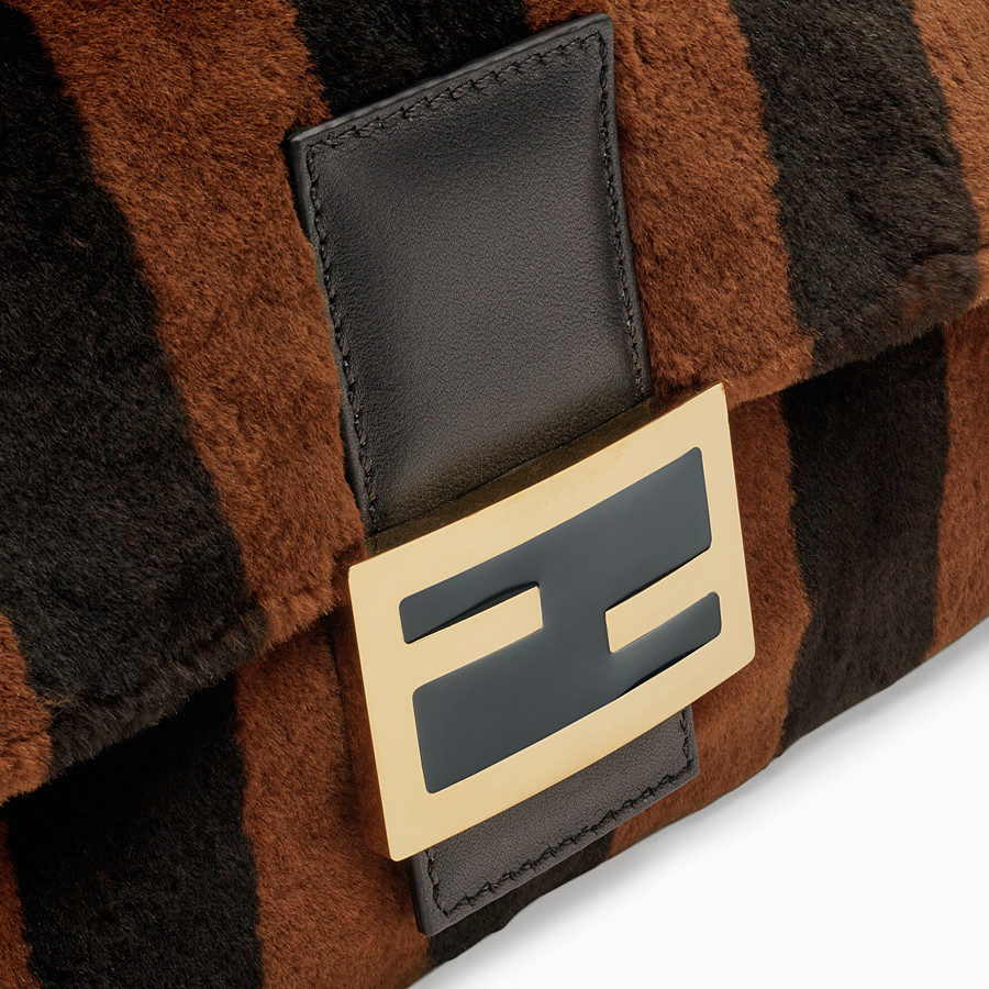 FENDI BAGUETTE - Multicolour mink bag - view 6 detail